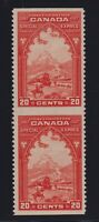 Canada Sc #E3b (1927) 20c  Special Delivery Imperforate Between Pair Mint VF NH