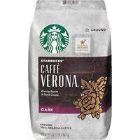 (ONE) 40 oz BAG STARBUCKS 100% ARABICA DARK GROUND COFFEE CAFE VERONA