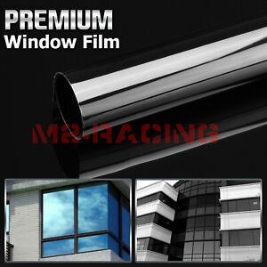 Dark Smoke Window Tint Film UV Heat Reflective Home Office #6