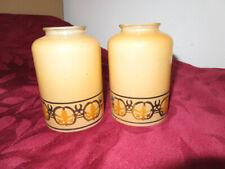 "Antique Art Nouveaux Amber Satin Glass Chandelier Lamp Shade 2.25"" Fitters"