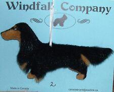Black Tan Long Coat Dachshund Dog Plush Christmas Canine Ornament # 2 by WC
