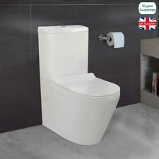 Cadley Bathroom White Close Coupled WC Toilet Pan Soft Close Seat & Dual Flush
