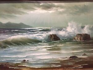 Beautiful Seascape Original Painting by Important Artist Stevens - EXQUISITE
