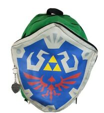 Legend Of Zelda Hylian Shield Backpack with Link's Hidden Green Hood Plus Charm