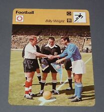 FICHE FOOTBALL 1959 BILLY WRIGHT ENGLAND WOLVERHAMPTON WANDERERS WOLVES
