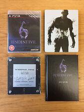 Brand NEW RESIDENT EVIL 6 GIOCO, STEELBOOK, targa e libretto per PS3 PLAYSTATION