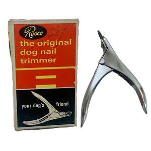 Vintage Tecla Co. Resco Original Dog Nail Trimmer W/ BOX Michigan Deadstock