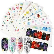 30 Sheets Winter Christmas Nail Art Water Transfer Sticker Decals Cover Colors
