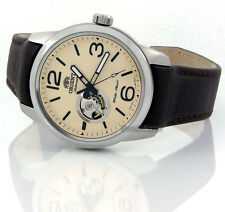 ORIENT MEN WATCH JAPAN MADE AUTOMATIC SOLID STEEL 42mm LEATHER FDB0C005Y0