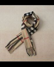 New BURBERRY SCARF GIANT CHECK  CASHMERE Beige Black