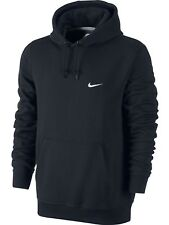 Nike Men's Club Swoosh Fleece Hoodie Hooded Jumper Black 611457 XXL