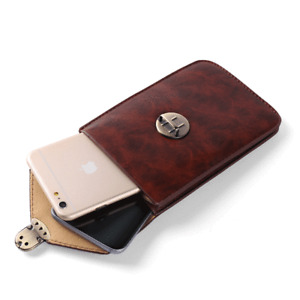 Luxury Leather Vertical Buckle Waist Pouch For iPhone 12 Pro Max / 12 Pro / 12