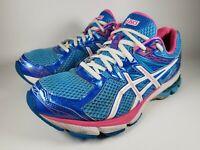 ASICS GT1000 Womens Running Shoes Lightning Hot Pink Blue T4K8N Size 9