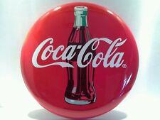 """Coca Cola Coke 12"""" Pressed Metal Button Sign 2003"""