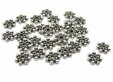 30 Daisy Spacer 8,5mm silberfarben, Metallperlen, Zwischenperlen, Perlen basteln