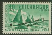 Nicaragua 1949 Regatta 40c World Series color sample