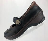 Josef Seibel Mary Janes Black Brown Leather Comfort Womens Size 38 US 7/7.5