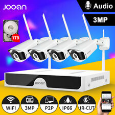 JOOAN 8CH HD3MP NVR WIFI Camera CCTV Outdoor Wireless Security Camera System 1TB