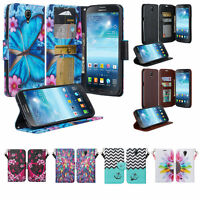 Samsung Galaxy Mega 6.3 Case, Faux Leather Magnetic Flip Wallet Case Cover