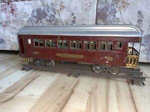 Lionel Electric Trains Standard Gauge 322 Red Observation passenger Car, C-4.