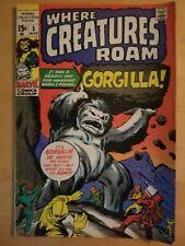 WHERE CREATURES ROAM #5 (1970) Marvel Horror Comic GORGILLA