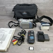 Canon ZR45MC Mini Digital Video Camcorder SD Card or Tape Record Lots of Extras