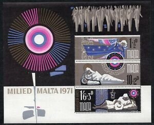 MALTA 1971 - Christmas - Angel -Madonna and child -Shepherd - MNH Souvenir Sheet