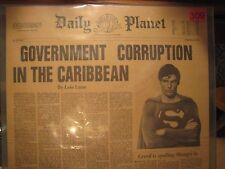 C Reeve Superman Movie Prop; Margot Kidder Autograph; Daily Planet; +Certificate