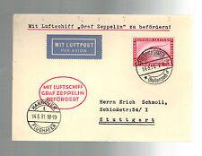 1931 Germany Graf Zeppelin Cover Hannover Flight