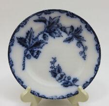 "Antique Flow Blue 7"" Plate ~ Societe Ceramique Mastricht ~ HOLLAND ""Etruria"""