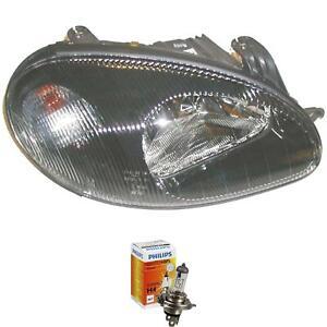 Headlight Right Daewoo Lanos Year 97-00 Black Incl. Philips Lamps 51B