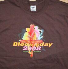 2008 Spokane Bloomsday VOLUNTEER race crew brown cotton ss T-shirt L Jerzees