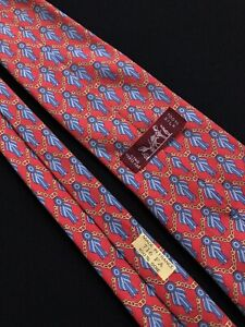 Hermes Vintage Tie Cravatta,  100% Silk Made In France Rare 716 FA
