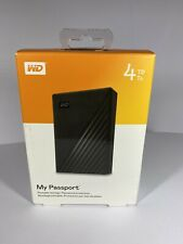 "Western Digital My Passport 4TB Black External 2.5"" Portable Hard Drive USB"