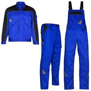 ARBEITSKLEIDUNG Arbeitshose Latzhose Arbeitsjacke BERUFSKLEIDUNG blau Gr.44 - 64