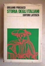 STORIA DEGLI ITALIANI PROCACCI LATERZA 1975