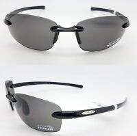 NEW Suncloud sunglasses Momentum Black Grey Polarized Unisex Medium fit rimless
