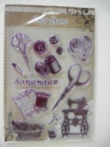 Beautiful Clear Stamp Set by Clear Stamp 'Handmade'  (D44)
