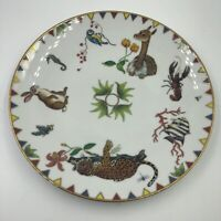 Lynn Chase HARMONY Porcelain Gold-Trimmed Salad or Dessert Plate 1998
