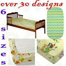 FITTED SHEET crib moses basket cot bed junior bed toddler bed bassinet BOY GIRL