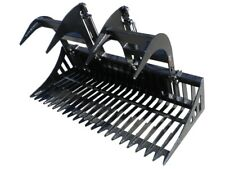 "66"" Contractors Rock Bucket with Grapple Skid Steer Loader Attachment Bobcat"