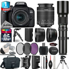 Canon Rebel 800D T7i Camera + 18-55mm IS STM + 500mm - 32GB Kit  + 1yr Warranty