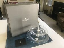 "SUPERB 10 5/8"" Waterford Crystal BALLET ICING 2-TIER SERVING DISH  NEW IN BOX!!"