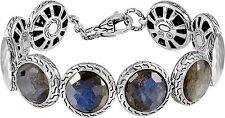 $1,695 John Hardy sz S Metallic Batu Palu Silver Labradorite Disc Bracelet NWT