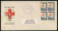 Mayfairstamps Netherlands 1953 Block Red Cross Foxing First Day Cover wwe92687