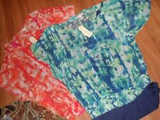 lot 2 womens top blouse ~ XL layered sheer w/attached cami ~ French Laundry