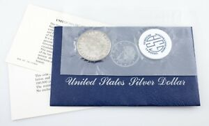 1881-S $1 Silver Morgan Dollar GSA Soft Pack w/ Envelope and Papers