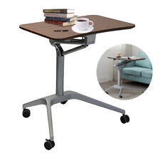 New listing Adjustable Height Pc Computer Rolling Desk Laptop Table Cart Mobile Bed Stand