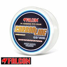 MONOFILO PESCA DRIFTING TRAINA FALCON CARBONLINE NYLON + FLUOROCARBON NEWWW