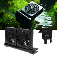 Adjustable Aquarium Cooling Fan Fish Tank Cold Wind Chiller Water Cooler Adapter